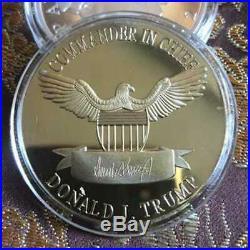 100PCS 2020 President Donald Trump Gold Plated EAGLE Commemorative Coin