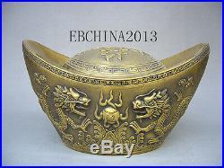 11 Chinese gold ingot Ancient money Brass sculpture COINS in the piggy bank