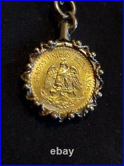 14K Yellow Gold Necklace 20 inches and 24K Collectible Coin Pendant