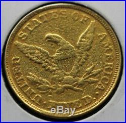 1844 $5 Half Eagle Last Money Spent By Prophet Joseph Mormon Gold Coin