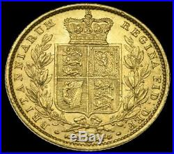 1857 EF Gold Queen Victoria Full Sovereign Coin. Ex-Michael Gietzelt Collection