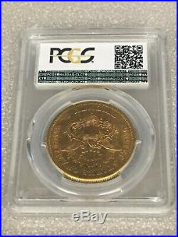 1859-S XF45 PCGS CAC Liberty Double Eagle Type 1 $20 Gold Coin Newman Collection