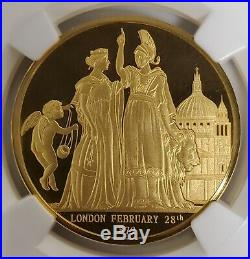 1872 London & The Lion, Smithsonian Collection 1 oz Proof Gold Coin NGC UC GEM