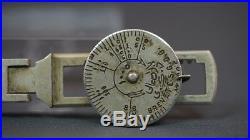 1880 Antique Armenian Ottoman Turkish Pocket Gold Coin Balance Rocker Scales 4'