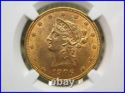 1906 $10 Liberty Head Eagle NGC MS62 East Coast Coin & Collectables, Inc