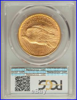 1908-D $20 St Gaudens NO MOTTO 1 oz GOLD coin PCGS MS 64 SUPERB Collectible
