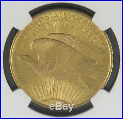 1908 Saint-Gaudens $20 Gold Double Eagle (No Motto) Coin NGC MS64