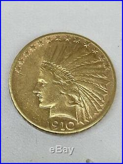 1910 S San Francisco Mint $10 Dollar Indian Head Gold Collectible Coin