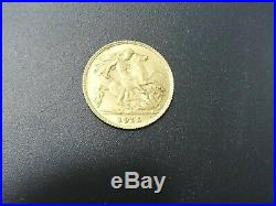 1915 King George Half Sovereign Gold Coin