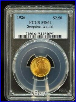 1926 $2.5 Gold Sesquicentennial PCGS MS64 East Coast Coin & Collectables, Inc