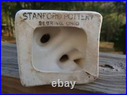 1940's Stanford Pottery BOSTON BRAVES Gold Tooth Indian 8 RAZOR BLADE/COIN BANK