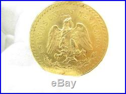 1947 Mexican $50 Peso Coin Uncirculated 41.6 Grams Pure Gold Collectible Item