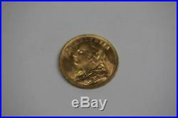 1949 B Solid 22K Gold Swiss Coin 20 Francs Helvetia AU Rare Collectible Currency