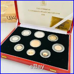 1981 Gold Proof Collection Royal Mint 9 Coin Set