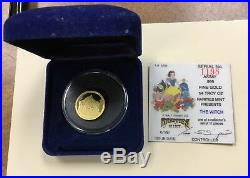 1987 GOLD Disney Rarities Mint 1/4 oz Proof Snow White the Witch #1198 of 3500