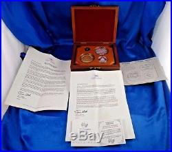 1991 China 10th Anniversary Panda Collection Coin Set Box COA Lim. Ed. 84 of 750