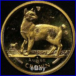 1994 Isle of Man 1/10 Oz Gold Cat Proof Japanese Bobtail Free Shipping USA