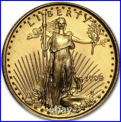 1998 Five Dollar American Gold Eagle. 999 1/10 oz Gold. Highly Collectible