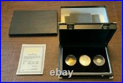 1999 US Modern Liberty Collection, $1 Silver, $5 Gold & $10 Platinum Eagles