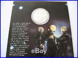 1- Oz. 999 Silver Coin Star Wars Luke Skywalker, Kenibo Mos Eisley Cantina + Gold