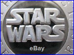 1- Oz. 999 Silver Coin Star Wars (chewbacca Han Solo & Pirate Starship) + Gold
