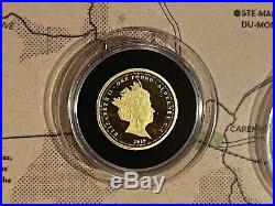 1 Pound Proof Gold Coin D-Day 75th Anniversary Full Collection Bradford Exchange