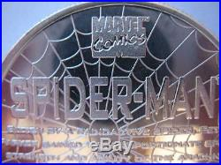 1-oz999 Silver Spiderman Rare Detailed 1996 Marvel Comics #1114 Proof Coin +gold