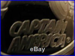 1-oz 999 Silver Cartoon Celebrities Marvel Comic Captain American Coin+gold