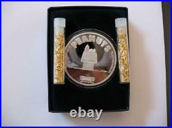 1-oz. 999 Silver Peanuts Gang Charlie Brown Dog House Sleeping Snoopy Coin+gold