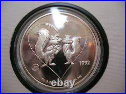 1-oz. 999 Silver Pepe Le Puw & Penelope 1992 Warner Bros #404 Le Proof Coin+ Gold