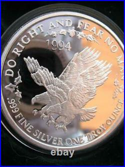 1-oz. 999 Silver Rare 1994 Double Eagle Famous Dallas Coin Del Frisco's+gold