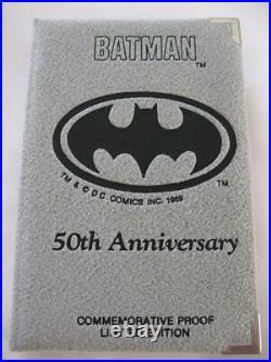 1-oz. Pure Silver 1992 DC Comics Very Rare Batman Hero In Black # 1976 Coin+gold
