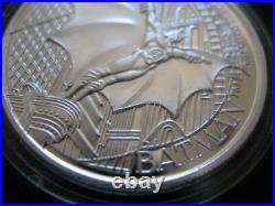 1-oz. Pure Silver 1992 DC Comics Very Rare Batman Returns Coin Mint#3635 Box+gold
