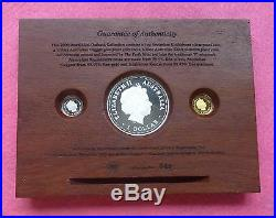 2000 Australia Mini Outback Coin Collection Gold- Silver -platinum