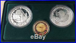2000 Sydney Olympics Coin Collection 2 x 1 oz silver and 1 x 10g 9999 Gold Coin