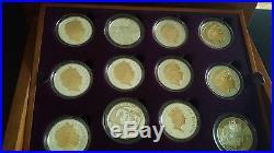 2002 2003 Golden Jubilee Collection Queen Elizabeth II 24 Silver Coins