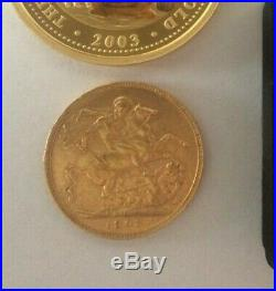 2003 Prospectors Collection Gold Sovereign, Nuggets, Bullion Coin Edition No. 30