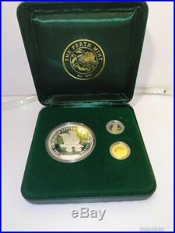 2005 Mini Outback Collection CoA 588 Silver Gold Platinum 3 Coin Proof Set Rare