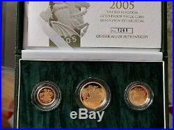 2005 Proof Gold Threeg Coin Sovereign collection