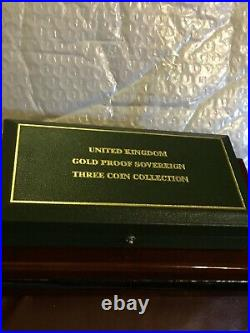 2007 Gold Proof 3 Coins Double Full & Half Sovereign Collections Limited 750 COA