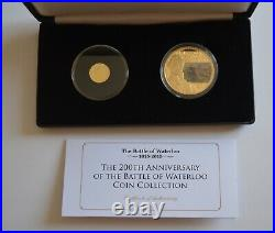 200th Anniversary of the Battle of Waterloo Coin Collection 1 Solid Gold COA