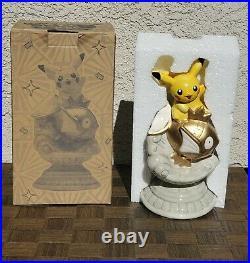 2013 Shiny Gold Magikarp Pikachu Statue Coin Bank Pokemon Center Nagoya Tomy
