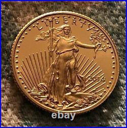 2014 American Gold Eagle 1/10 oz $5 Collectible Coin