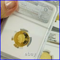 2014 Donald Duck 1/4oz Gold Ngc Pr70 Ultra Cameodisney Charactersniue $25 Coin