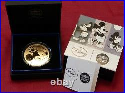 2016 1 oz Proof French Gold Mickey Mouse Through the Ages Coin (Box & COA)