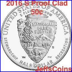 2016 3 Coin Set 100th Anniversary National Park Service New W $5 Gold Proof 16CG