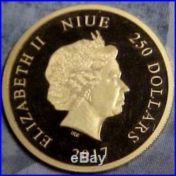 2017 Niue $250 1oz Pure Gold Coin Disneys Fantasia Sorcerers Apprentice 500 Made