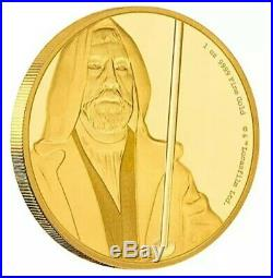 2017 Star Wars 1 oz. Pure Gold Obi-Wan Kenobi Bullion PF Grade Coin. (COA + Box)