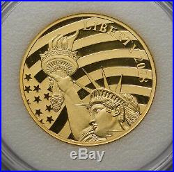 2018 Cook Islands $25 Liberty 1/2 oz. 24 Gold Proof Collector Coin