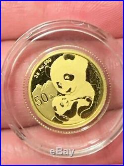 2019 3 Gram Gold Chinese Panda (BU) Collectible